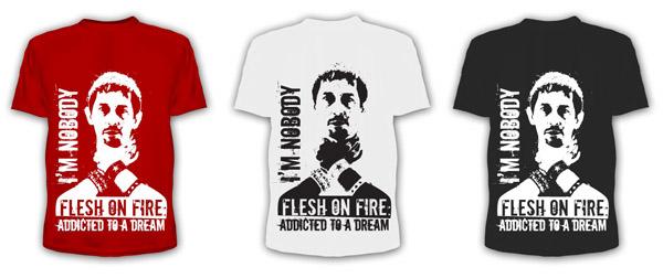 Фриланс - дизайн футболки Flesh On Fire