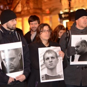 Флешмоб в Праге за освобожение политзаключонных Беларуси