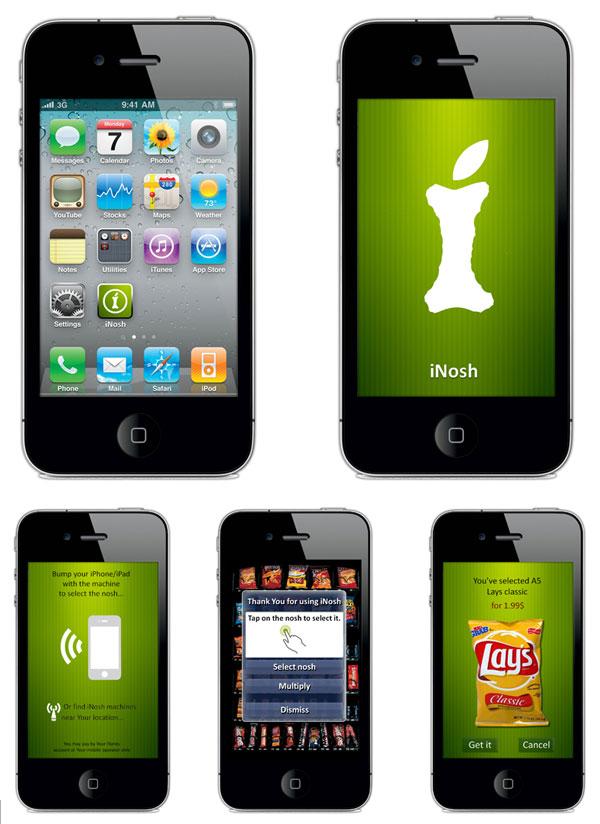 Дизайн и концепция iNosh - проект торговых автоматов для Apple