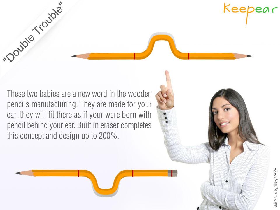 Креативный дизайн карандашей - Keepear Double Trouble