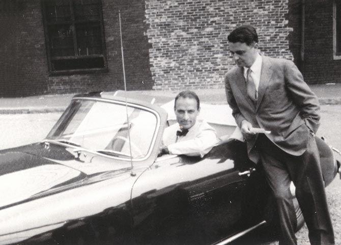Изобретатель Эдвин Лэнд и будущий президент компании Polaroid, 1958 год